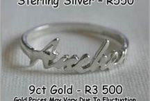 PERSONALISED JEWELLERY / Available in Sterling Silver or 9ct Gold