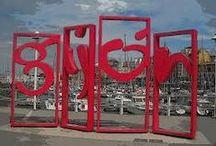 Gijón / Gijón es una ciudad española, con la categoría histórica de villa, Está situada en la costa del Principado de Asturias,  Gijón, que es la ciudad más poblada del Principado de Asturias.  / by Apartamentos Mazuga Rural