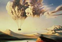 Vladimir Kush / Vladimir Kush (born 1965) is a Russian born surrealist painter and sculptor. He studied at the Surikov Moscow Art Institute, and after several years working as an artist in Moscow, his native city, he emigrated to the United States, eventually establishing his own gallery on the island of Maui in Hawaii.