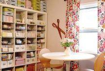Home Craft & Study Room / Zuhause Bastel- & Studierzimmer / by Anja Klemmer