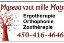 Clinique un museau vaut mille mots / Orthophonie-Ergothérapie-Zoothérapie Clinique multi-disciplinaire!