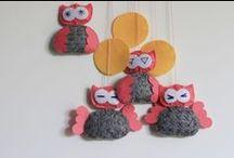 Meg's Workshop - children's room / headrests panel , garland, decorative owls