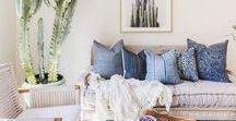 Living Room / Cozy, natural, earthy decor ideas