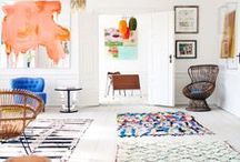 Area Rugs / DIY | Home blogger, Astral Riles provides a compilation of amazing area rugs & runners.  www.astralriles.com