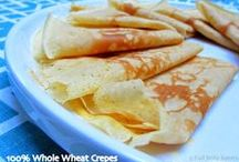 Pancakes. Crêpes, Clătite / Archaeological evidence suggests that pancakes are probably the earliest and most widespread cereal food eaten in prehistoric societies The pancake's shape and structure varies worldwide. A crêpe is a thin Breton pancake cooked on one or both sides . A well-known variation originating in Southeast Europe is Palačinke, a thin moist pancake fried on both sides and filled with jam, cheese cream, chocolate, or ground walnuts, but many other fillings, both sweet or savory, can also be used. / by Mariana Ungureanu