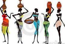 AFRICANAS (African art) - inspirações e esculturas