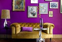 BOLD & BEAUTIFUL walls / DIY | Home blogger, Astral Riles provides a compilation of beautifully designed spaces that incorporate BRIGHT & BOLD pops of color. http://www.astralriles.com