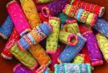 рукоделие / квилты текстильный коллаж вышивка авторская кукла артбук