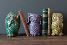 """Owl Obsession / A compilation of ALL things """"Owl"""" related...from fabric to wallpaper to area rugs to home decor accessory items, etc etc.  www.astralriles.com #ReDesign #ReInvent #ReLive"""