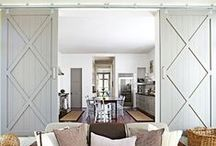 Barn Door Crazy! / DIY | Home blogger, Astral Riles provides a list All about barn doors and interior designs that effectively incorporate the use of sliding barn doors.  www.astralriles.com #ReDesign #ReInvent #ReLive