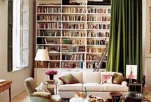 Library Lust / DIY | Home blogger Astral Riles, pins her favorite stylish and cozy home library / book storage design ideas.   www.astralriles.com #ReDesign #ReInvent #ReLive