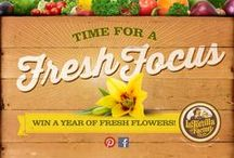 #FreshFocus / Happy New Year! It's time for a fresh focus.  Adding a bit of fresh fruit or veggies to every meal makes each one tastier, healthier and more colorful! Enter our Pinterest Sweepstakes by creating a #FreshFocus board for your chance to win a year of fresh flowers. Sweepstakes runs January 1, 2015 – January 31, 2015. Get started here: http://mckry.co/ltf-freshfocus