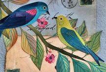 Birds, Blooms and Butterflies Inspiration / Doodles and other images of birds, blooms and butterflies to inspire me in the course Birds, Blooms and Butterflies at creativekismet.com