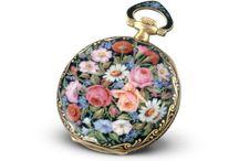 Precious Pocket Watch Cases / Platinum, Gold, Diamond, Sapphire, Emerald, Split Pearl and Precious Gems Antique Pocket Watch Enamelled Cases