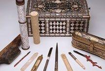 Calligrapher's Tools / Calligraphy, Inkwell, Inkwell Set, Reedpen,  Pen Box, Sharpener, Dip Pen etc.