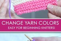 KNITTING beginner tutorials / Want to learn how to knit? Here's where you will find lots of easy knitting tutorials for beginners!