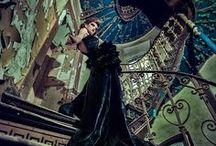Dark ladies in an abandoned palace / fashion project with: Małgorzata Chara FAshion Designer models:  Angela Olszewska Kasia Zientkowska  MUA: Kasia Kałek-Dekert Hair: Aldona Karczewska-Wodzińska  photographer: Piotr Jan Gajewski