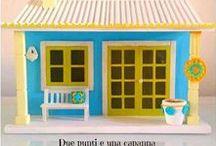 Miniature wooden houses / https://www.facebook.com/duepuntieunacapanna