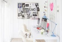 Happy Workspace / Let's make our workspaces FUN & INSPIRING! Saying no to grey office cubicles and YES to airy/stylish/colourful and personalised spaces that keep those entrepreneurial juices flowing!