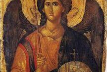 Painting(orthodox art angels)