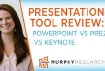Visual Tools / Murphy Research's coverage on tools for more dazzling marketing presentations including infographics, design, and software including Powerpoint, Prezi and Keynote.