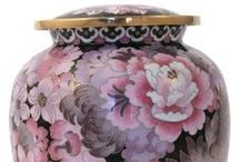 Cloisonné Cremation Urns / The Casket Store offers beautiful Cloisonné Urns at discount prices to the public. http://www.thecasketstore.com