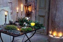 Kerzen und Kerzenlicht