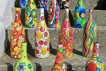 διακόσμηση με χειροποίητα - handcrafted decoration