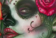 Day of the dead gypsy head tattoo ideas