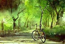 NATURE & STUFF - natural media / Natural media art that moves, mostly watercolor