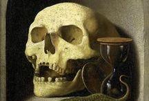Sensenmann, Totenköpfe und Skelette