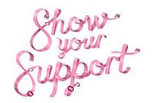#Showyoursupport / #SHOWYOURSUPPORT for the 1 in 8 women who are diagnosed with breast cancer in Australia in their lifetime. Donate to NBCF and help fund life-changing breast cancer research.