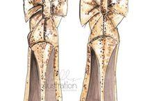Fashion Shoes Illustrations