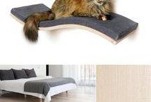 Wave cat shelves / Exclusive cat shelves with invisible wall mounting from Lazy Cat.