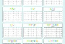 Printable Calendars & Planners / Calendars, planners and organizers that you can print at home, including any free printable planner options!