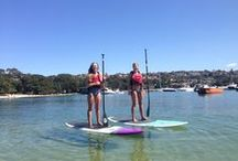 Learn to Stand Up Paddle / Our SUP school is located on beautiful Balmoral Beach. Secluded bays in beautiful surrounds. www.paddlesurfing.com.au