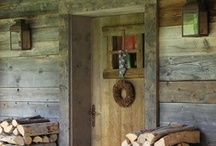 Log cabins and porches
