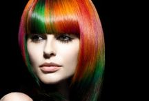 Rainbow Hair Color / Add a little color to your life! Rainbow hair colors that work.