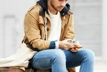 GUYS Senior Style Trend: Casual Layers / Whatever your style is LAYERS make it even better. Mix patterns, textures, colors, jackets, button ups, tees, and long sleeves. You may never be cold enough to wear a button up and a hoodie jacket under a leather jacket to school, but it will look great in your photos!