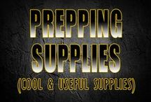 Prepping supplies / Prepping Supplies for survival. Not everything goes in our bug out bags but we need them none the less. Some are DIY and some you just need for survival