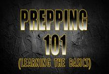 Prepping 101 / Learning about the basics of preparedness and survival from food storage to living off the land.