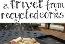Wine Crafts / What to do with all of those leftover bottles & corks!