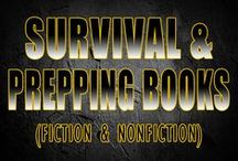 survival and prepping books / Some of these survival or prepping books I have read, some I have not but are on my bookshelf to read.