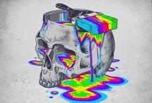 Skulls / Skull artwork shapes designs day of the dead  anything skull-y!