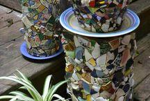 Creando con piedras,botellas,cerámica,y todo lo que nos sirva