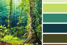 Nature's Color Palette / Bringing the outdoors inside with nature inspired color themes
