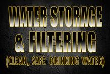 Water Storage & Filtering / Pins about storing water, water storage for preppers andmaking it clean to drink