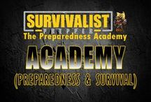 Survivalist Prepper Academy / At the Survivalist Prepper Academy we offer survival and preparedness courses, access to the private group of like minded preppers, wholesale prepping supplies and monthly contests.