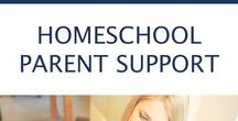 "Homeschool Parent Support / This is the room where you, oh busy homeschooling mom, can stop, take a break, and breathe in the busyness, and find a couple ""pats on the back"" when a boost is needed!"
