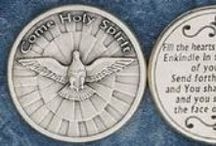 Pocket Tokens / Silver Plated Holy Coins.